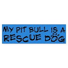 Rescue Dog Pit Bull Bumper Car Sticker