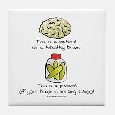 Nursing School Brain Tile Coaster