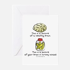 Nursing School Brain Greeting Cards (Pk of 10)
