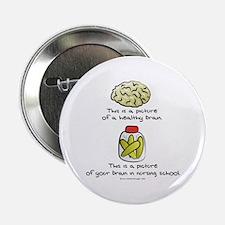 Nursing School Brain Button