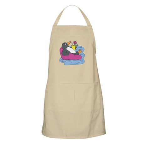 Penguin on Vacation BBQ Apron