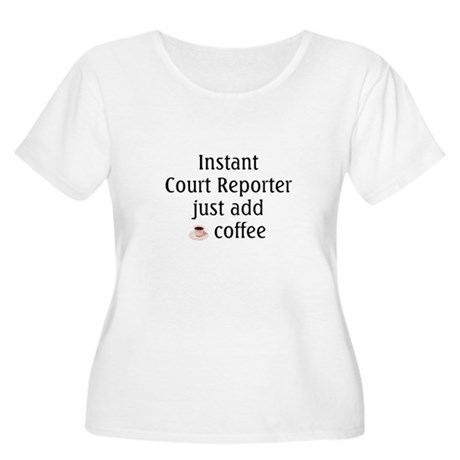 Court Reporter Women's Plus Size Scoop Neck T-Shir