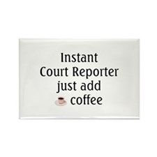 Court Reporter Rectangle Magnet (10 pack)