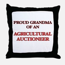 Proud Grandma of a Agricultural Aucti Throw Pillow