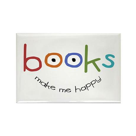 Books Make Me Happy Rectangle Magnet