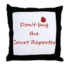 Court Reporter Throw Pillow
