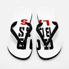 God Bless Laos Flip Flops