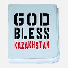 God Bless Kazakhstan baby blanket