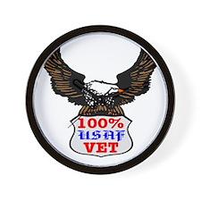 100% USAF Vet Eagle Wall Clock
