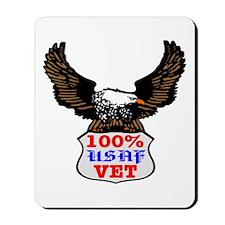 100% USAF Vet Eagle Mousepad