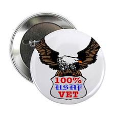 100% USAF Vet Eagle Button