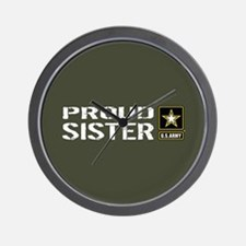 U.S. Army: Proud Sister (Military Green Wall Clock