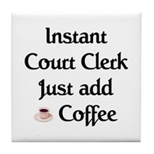 Court Clerk Tile Coaster