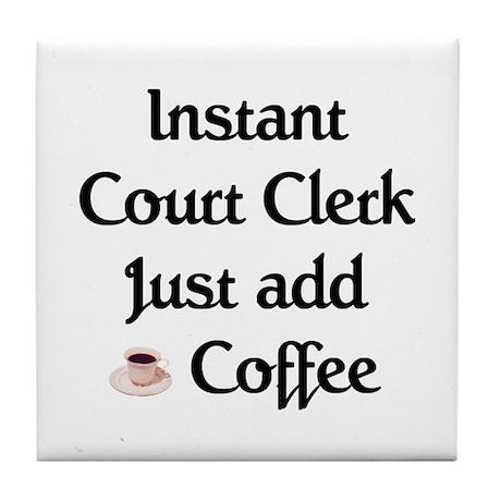 Court Clerk Tile Coaster