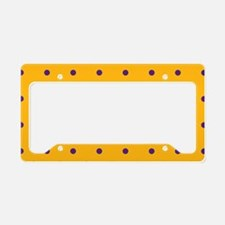 Polka Dots: Purple on Gold License Plate Holder