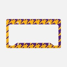 Houndstooth Checkered: Purple License Plate Holder