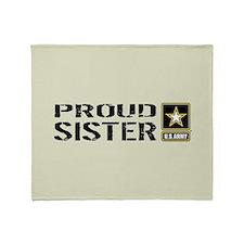 U.S. Army: Proud Sister (Sand) Throw Blanket