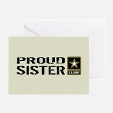 U.S. Army: Proud Sister (Sand) Greeting Card