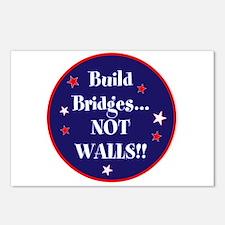 Build bridges... not walls Postcards (Package of 8