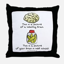 Med School Brain Throw Pillow