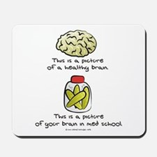 Med School Brain Mousepad