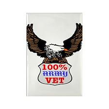 100% Army Vet Eagle Rectangle Magnet