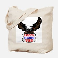 100% Army Vet Eagle Tote Bag