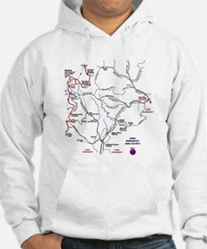 Old Rag Mountain trail map Hoodie