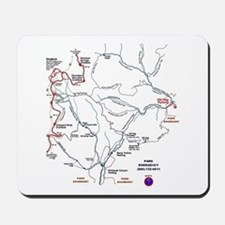 Old Rag Mountain trail map Mousepad