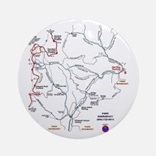 Old Rag Mountain trail map Ornament (Round)