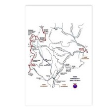 Old Rag Mountain trail map Postcards (Package of