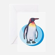 King Penguin Design Greeting Card