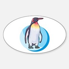 King Penguin Design Oval Decal
