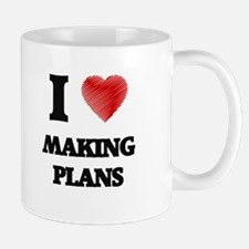 I Love Making Plans Mugs