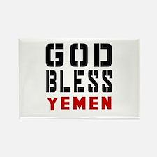 God Bless Yemen Rectangle Magnet