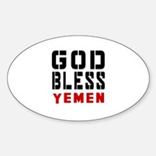God Bless Yemen Decal