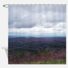 Endless Treetops Mountain View Shower Curtain