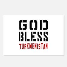 God Bless Turkmenistan Postcards (Package of 8)