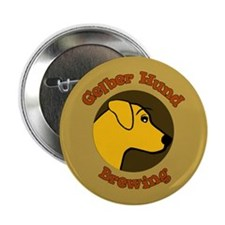 Gelber Hund Button