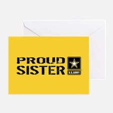 U.S. Army: Proud Sister (Gold) Greeting Card