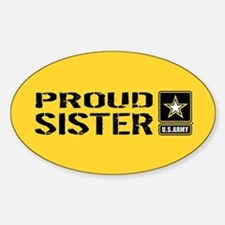 U.S. Army: Proud Sister (Gold) Decal