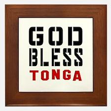 God Bless Tonga Framed Tile