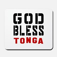 God Bless Tonga Mousepad