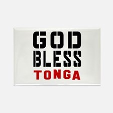 God Bless Tonga Rectangle Magnet