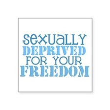 Sexually Deprived - blue Rectangle Sticker
