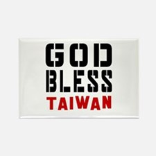 God Bless Taiwan Rectangle Magnet