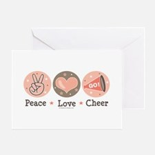 Peace Love Cheer Cheerleader Greeting Card