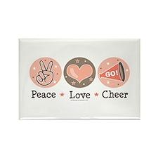 Peace Love Cheer Cheerleader Magnet 10 Pack