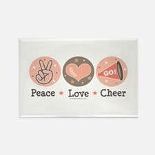 Peace Love Cheer Cheerleader Rectangle Magnet