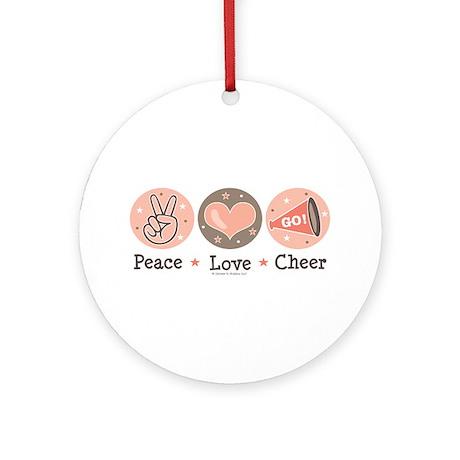 Peace Love Cheer Cheerleader Ornament (Round)